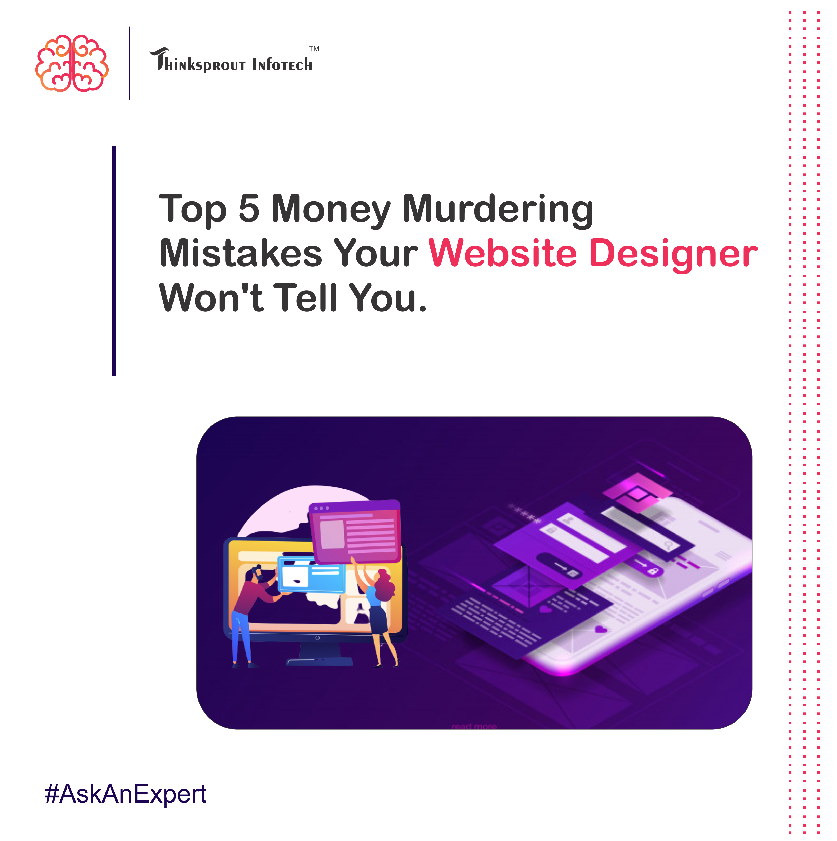 Top 5 Money Murdering Mistakes Your Website Designer Won't Tell You !! (Part 1)